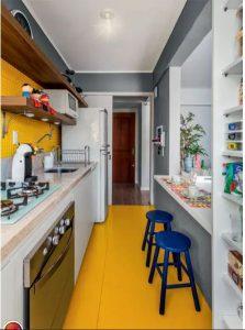 Sáng tạo không gian bếp cho nhà ống hiện đại. 2