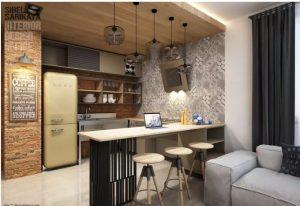 Sáng tạo không gian bếp cho nhà ống hiện đại