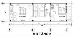 Thiết kế nhà ống 3 tầng hiện đại chi phí 640 triệu. 3