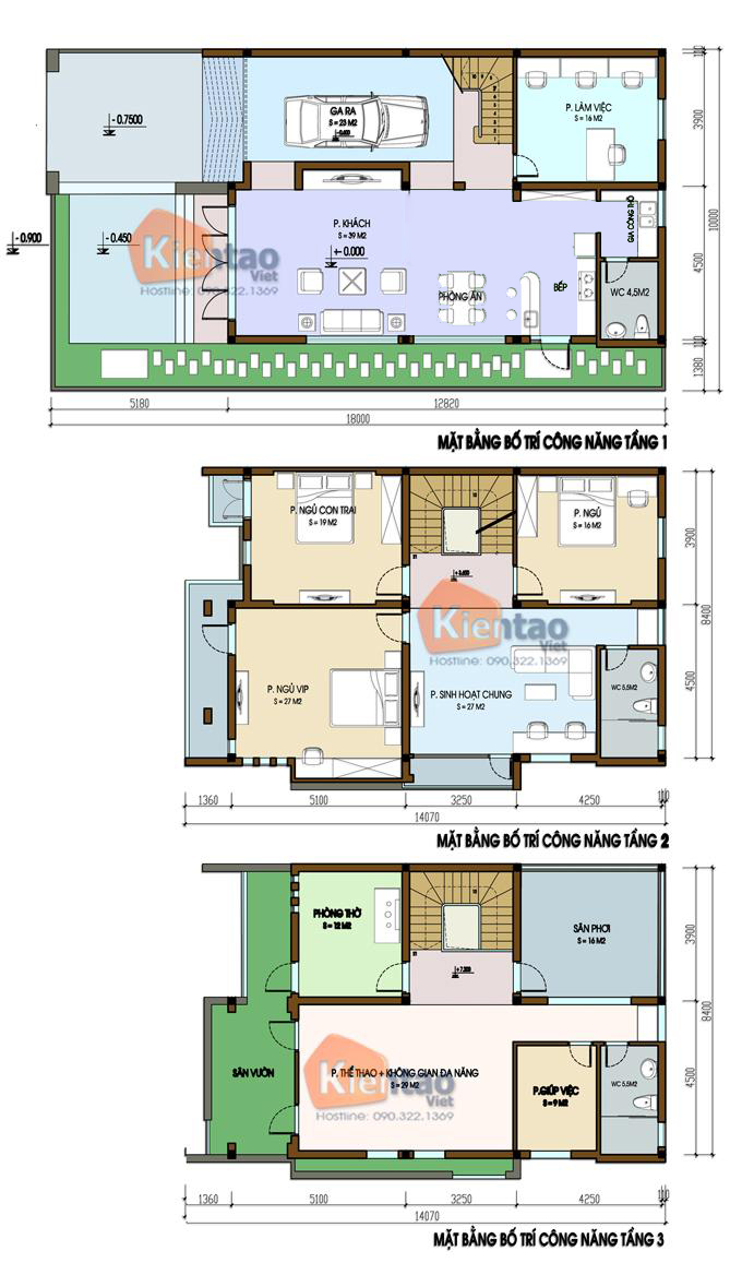 Thiết kế nhà phố 3 tầng hiện đại sang trọng. 1