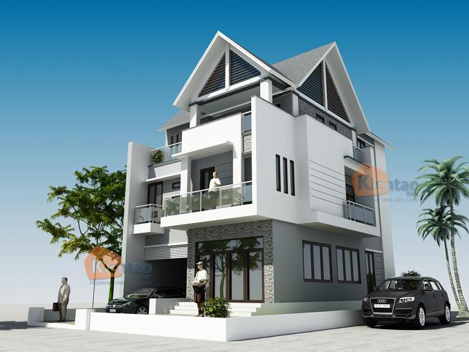 Thiết kế nhà phố 3 tầng hiện đại sang trọng. 2
