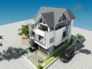 Thiết kế nhà phố 3 tầng hiện đại sang trọng. 4