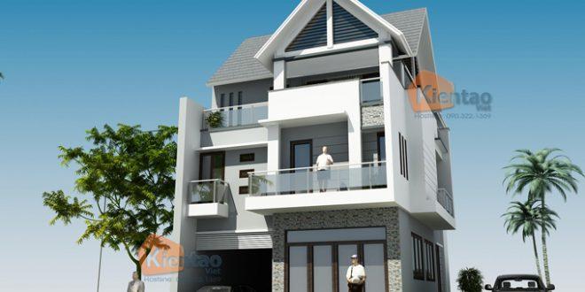 Thiết kế nhà phố 3 tầng hiện đại sang trọng