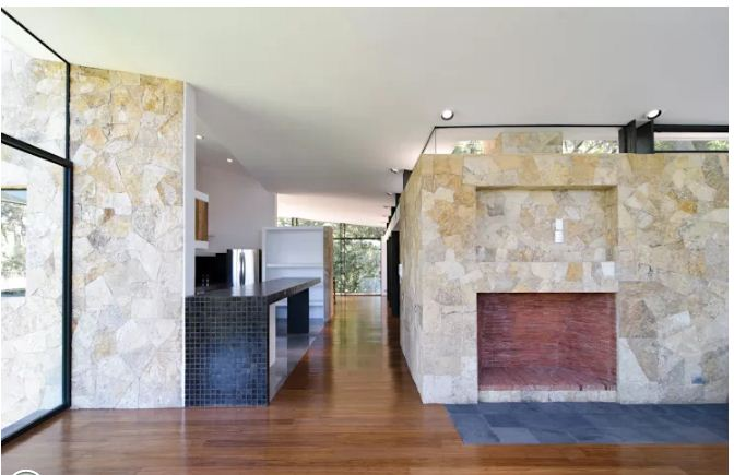Trang trí nhà ống đẹp với tường đá 5