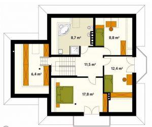 Biệt thự 2 tầng kiểu châu âu sang trọng. 3