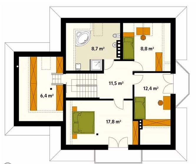 Thiết kế nhà biệt thự 2 tầng 10,2x12,8m đẹp nhẹ nhàng 3