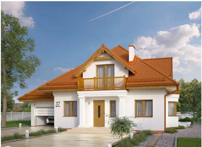 Thiết kế nhà biệt thự 2 tầng 10,2x12,8m đẹp nhẹ nhàng