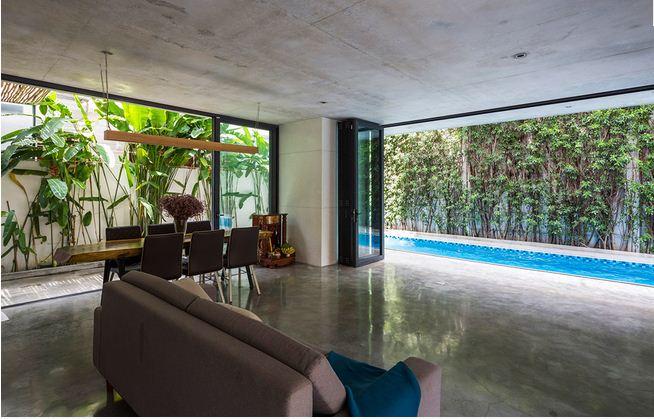 Biệt thự 3 tầng Sài Gòn tràn ngập sắc xanh. 7
