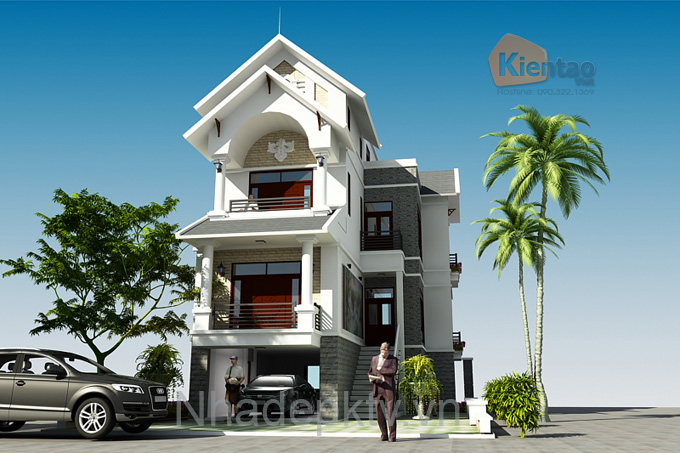 Biệt thự 4 tầng 12x15m cho nhà 3 thế hệ. 1