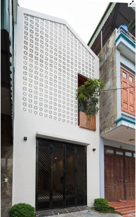 Mặt tiền nhà đẹp 3 tầng
