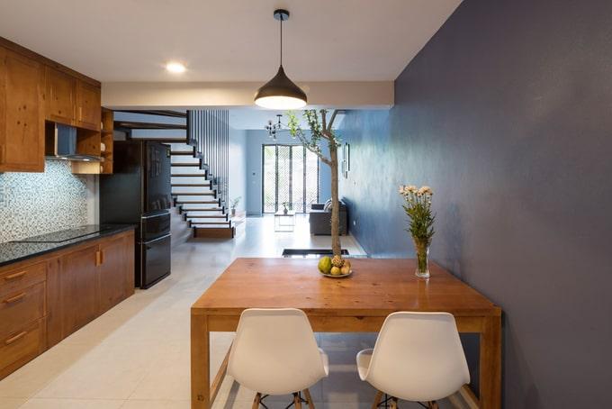 Không gian bếp ăn liền phòng khách - Nhà đẹp 3 tầng