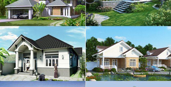 Những mẫu nhà vườn đẹp phong cách đa dạng. 2