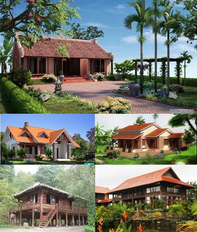 Những mẫu nhà vườn đẹp phong cách đa dạng. 1