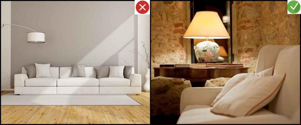 Những sai lầm trang trí phòng khách nhà ống cần tránh. 4