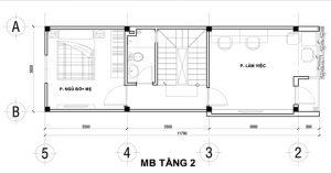 Nổi bật kiến trúc nhà ống hiện đại 4 tầng 50m2. 3