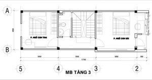 Nổi bật kiến trúc nhà ống hiện đại 4 tầng 50m2. 4
