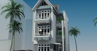 Thiết kế nhà phố 3 tầng chữ L 7x13,8m