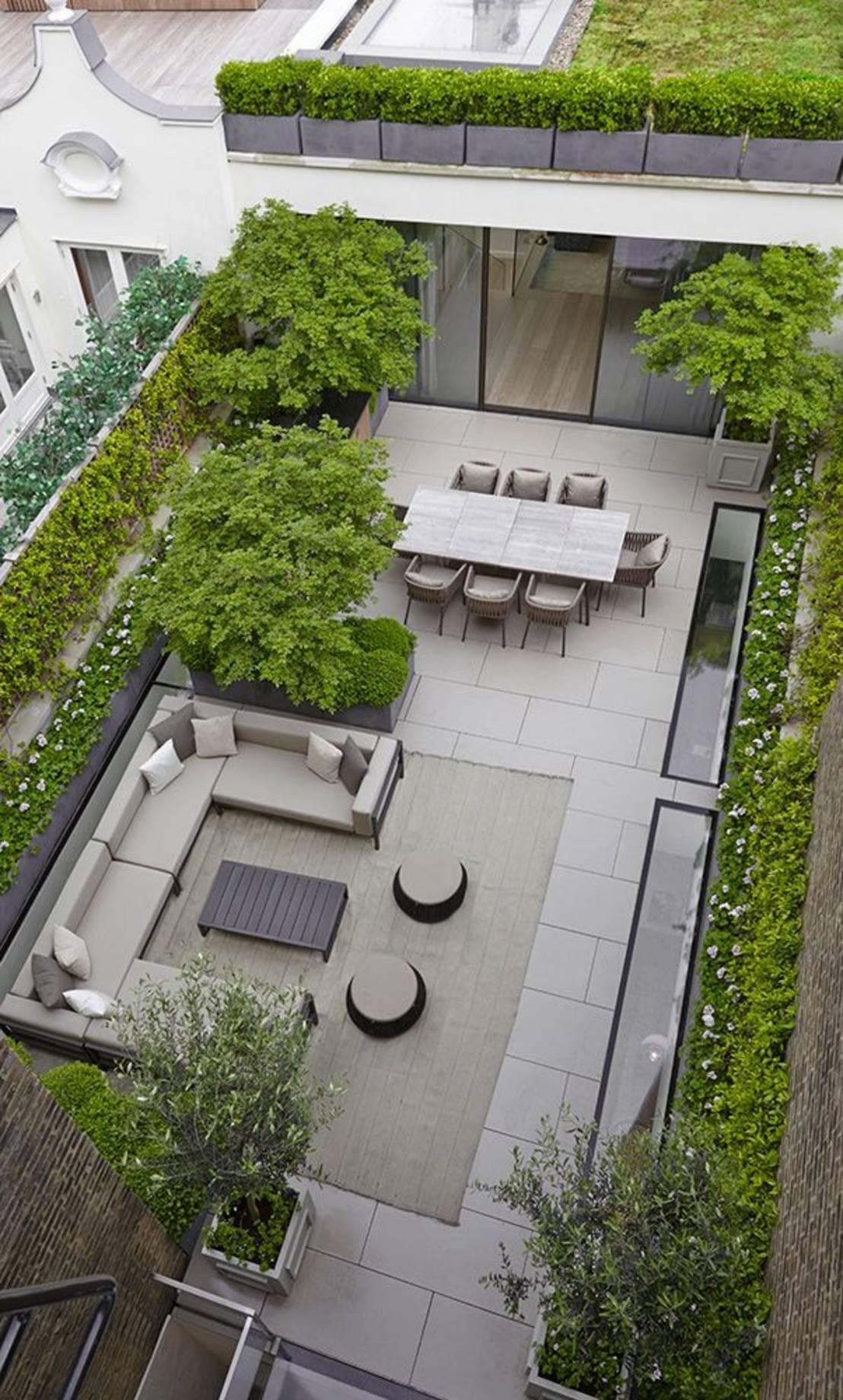 Thiết kế vườn sau cho nhà ống đẹp mê ly 2