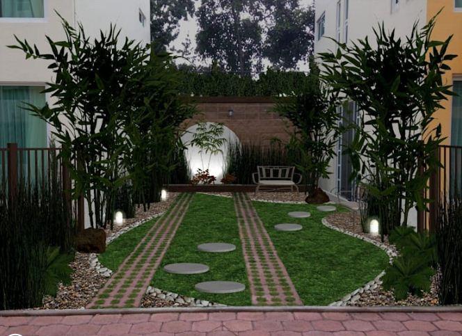 Thiết kế vườn sau cho nhà ống đẹp mê ly. 3