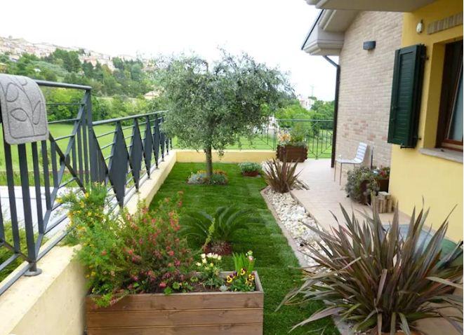 Thiết kế vườn sau cho nhà ống đẹp mê ly. 4