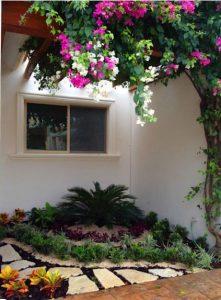 Tiểu cảnh sân vườn đẹp dẫn lối vào nhà bạn. 2