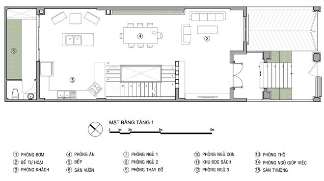 Tư vấn thiết kế nhà ống 4 tầng 6x20m. 2