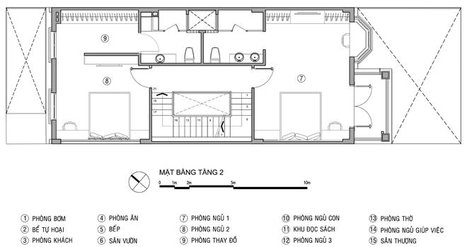 Tư vấn thiết kế nhà ống 4 tầng 6x20m. 3