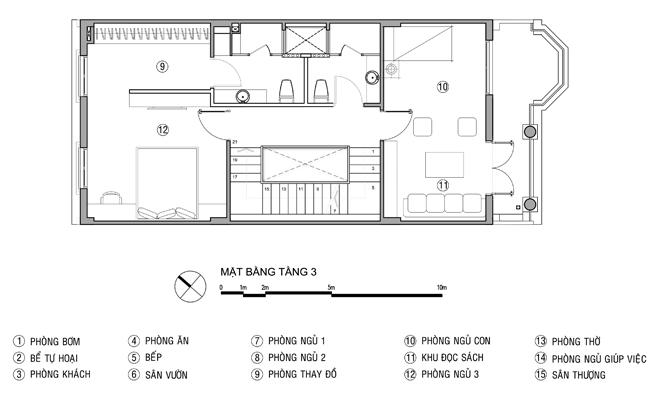 Tư vấn thiết kế nhà ống 4 tầng 6x20m. 4