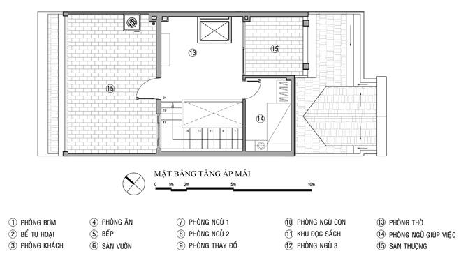 Tư vấn thiết kế nhà ống 4 tầng 6x20m. 5