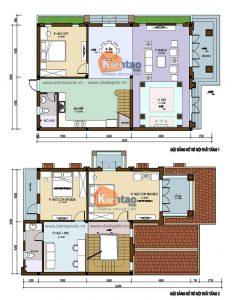 Biệt thự 2 tầng đẹp mái dốc truyền thống 10x20m. 2