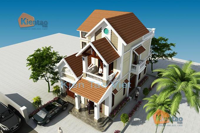 Biệt thự 2 tầng đẹp mái dốc truyền thống 10x20m. 3