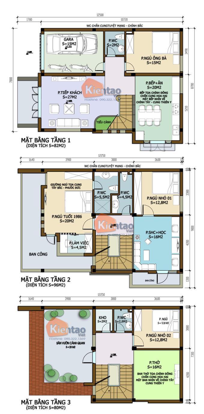 Biệt thự 3 tầng hiện đại 2 mặt tiền 100m2. 2