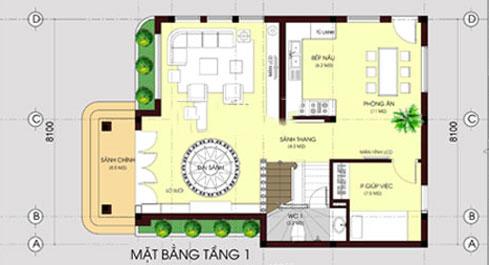 Biệt thự 3 tầng mái thái hiện đại 80m2. 2