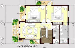 Biệt thự 3 tầng mái thái hiện đại 80m2. 3