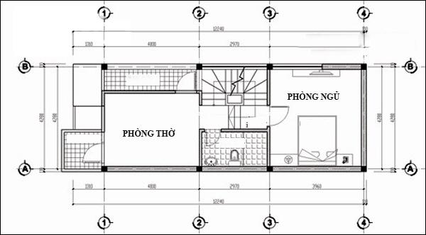 Nhà ống 4 tầng đẹp cho 3 thế hệ 4x12,5m. 5