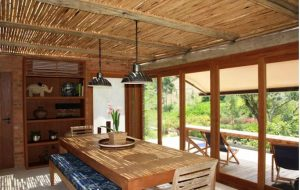 Nhà vườn 1 tầng bằng gạch thô đẹp mộc mạc. 4
