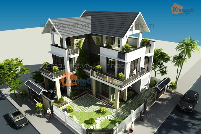 Nhà biệt thự đẹp 3 tầng 14x15m tại Nghệ An. 5