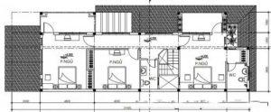 Tầng 2 - Biệt thự 2 tầng hiện đại mái thái 7x21m