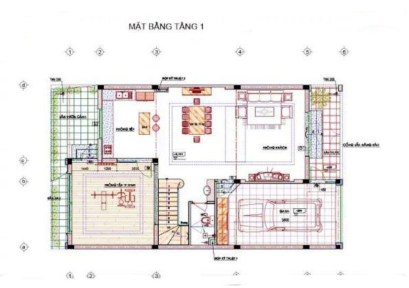 Biệt thự phố 3 tầng phong cách hiện đại 9x16m