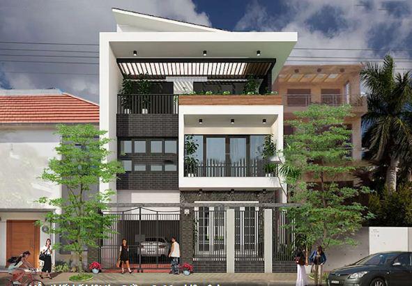 Biệt thự phố 3 tầng phong cách hiện đại 9x16m. 4