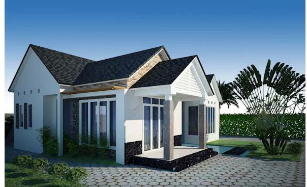 Mẫu nhà vườn hiện đại kết hợp với truyền thống 100m2. 5