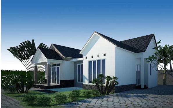 Mẫu nhà vườn 100m2 phong cách tân cổ điển