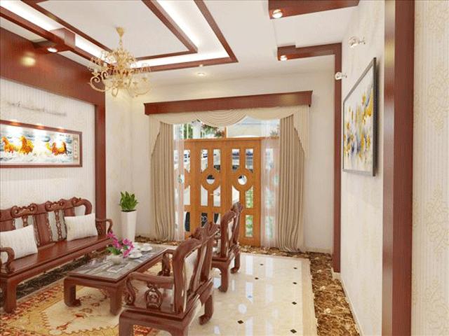 Nhà đẹp 2 tầng phong cách tân cổ điển 4x13,5m. 2