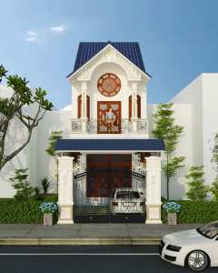 Nhà đẹp 2 tầng phong cách tân cổ điển 4x13,5m