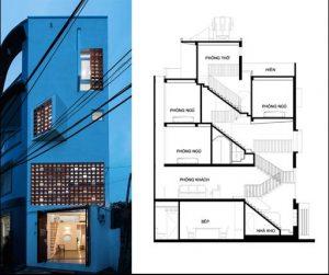 Nhà phố đẹp 3 tầng 43m2 thiết kế thông minh 2