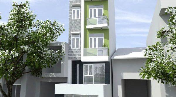 Mẫu thiết kế nhà phố đẹp 4 tầng tiện nghi-1