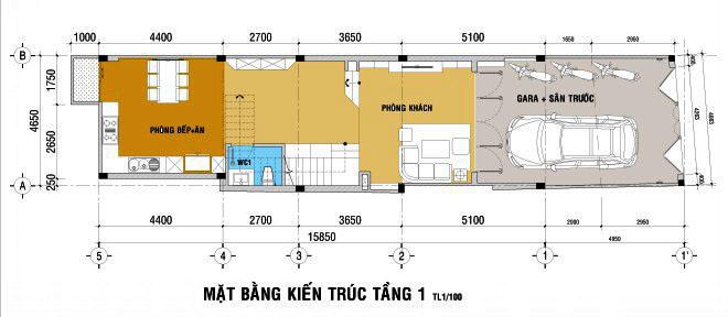 Thiết kế nhà đẹp 5 tầng DT 72m2 hiện đại cá tính-1
