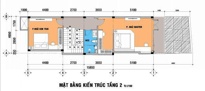 Thiết kế nhà đẹp 5 tầng DT 72m2 hiện đại cá tính-2