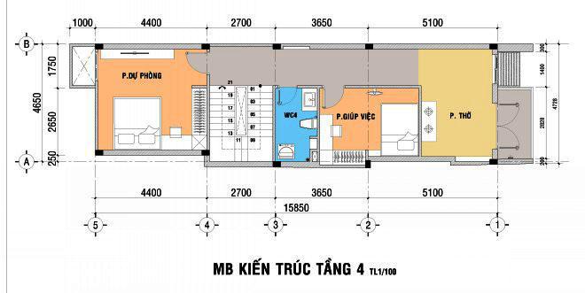 Thiết kế nhà đẹp 5 tầng DT 72m2 hiện đại cá tính-4