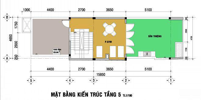 Thiết kế nhà đẹp 5 tầng DT 72m2 hiện đại cá tính-5